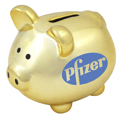 Pfizer's piggy bank seems to keep growing
