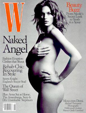 Cindy Crawford pre-delivery sans meds