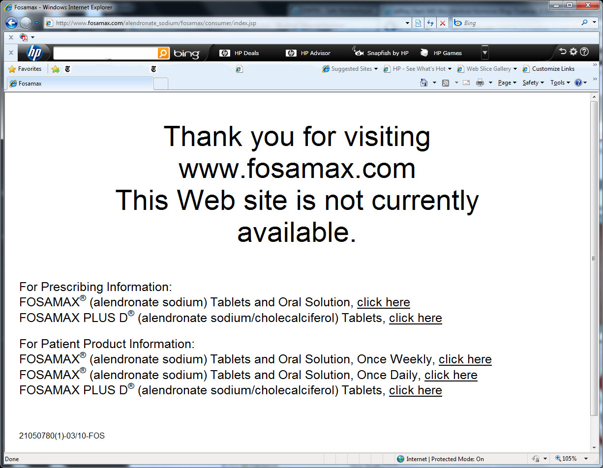 Welcome to Fosamax.com...NOT
