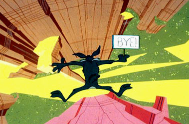 "Wile E. Coyote doing some of his own ""fracking"""