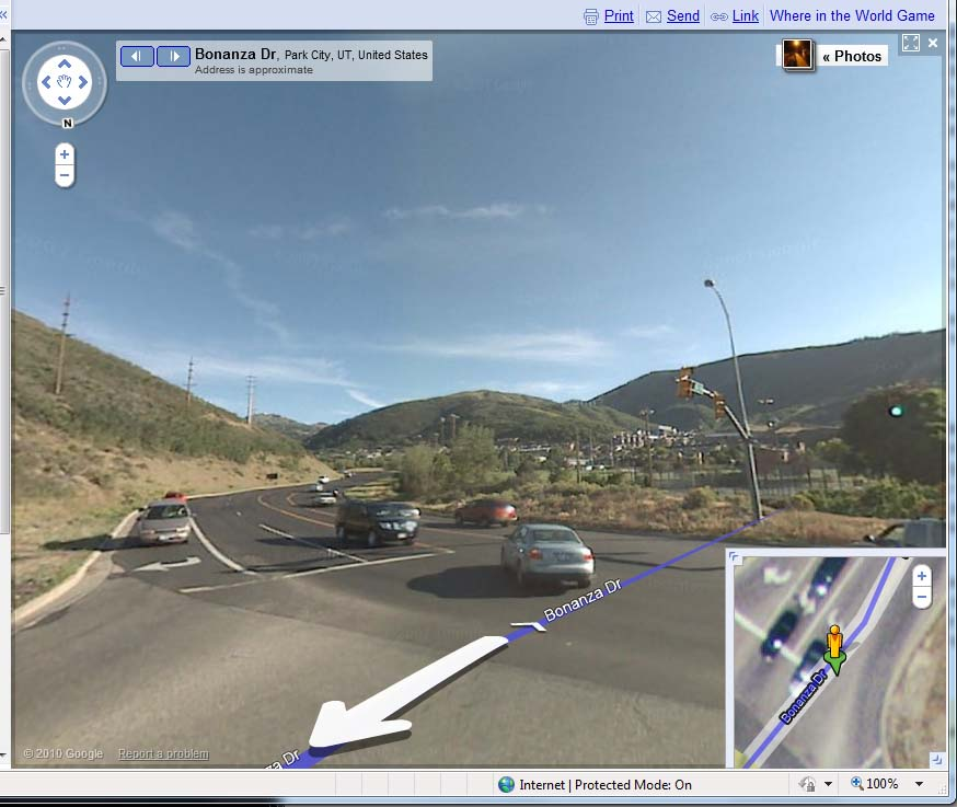 Google Maps walking directions in Park City UT