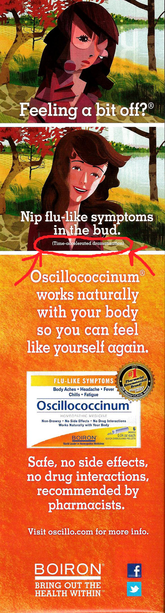 Oscillo Ad Channeling Picasso for Oscillo Flu Relief Fraud?