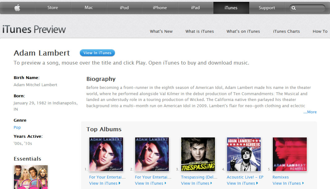 iTunes adam lambert Week Adjourned: 5.4.12   iTunes, Asbestos, Yaz Birth Control