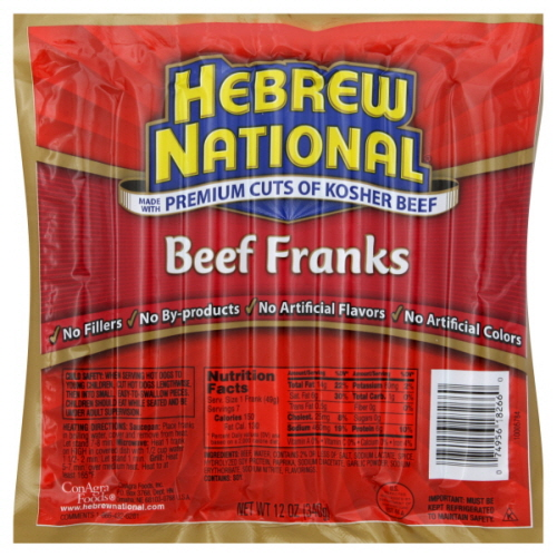 Costco Kosher Hot Dogs Nutrition