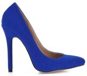 Blue Closed Toe Wedding Shoes