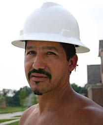Latino Construction Overtime Worker