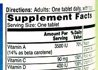 Vast Majority of Supplements Contain Contaminants: Government Report