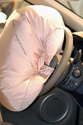 Car Crashworthiness airbag deployed