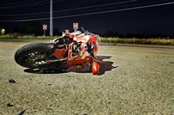 Accident Man Motorcycle Women Car Wet San Diego