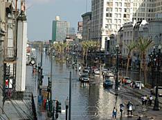 Dique fallado ante el Katrina